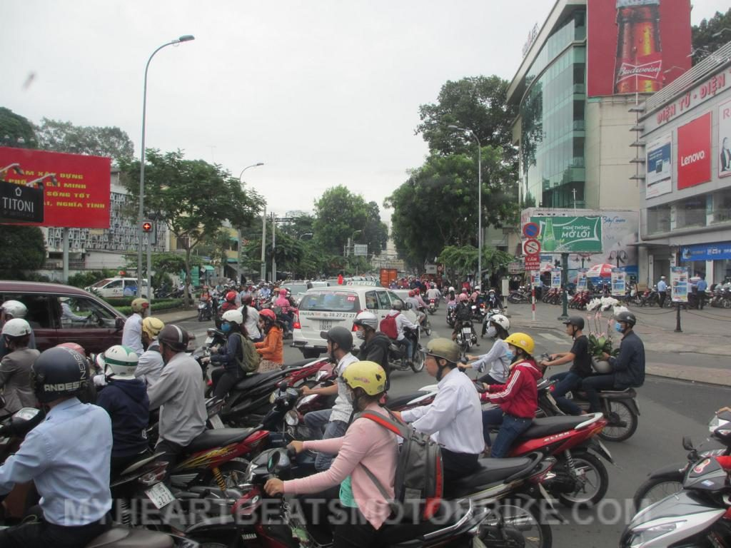 Ho Chi Minh City Traffic Jam Stau Verkehr