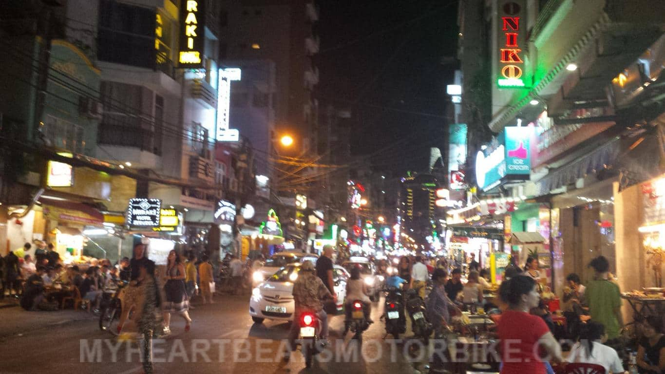 Ho Chi Minh City Vietnam Nightlife Rush Hour Nachtleben